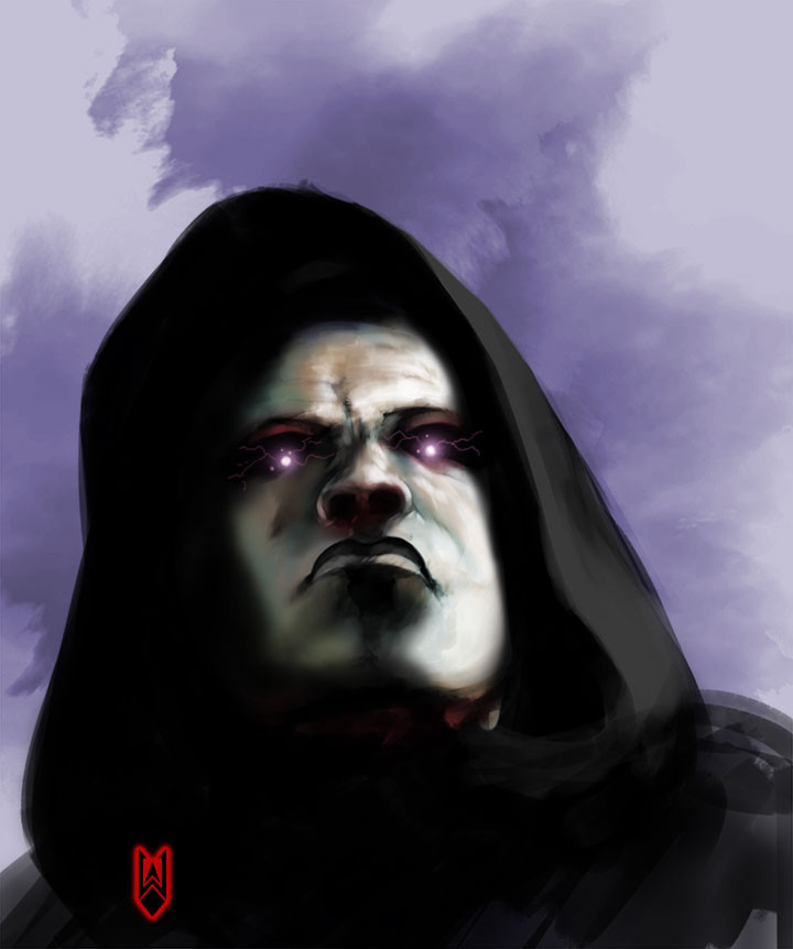 We got two awesome illustrations from Wayde! This one is called Darth Ferrumus!