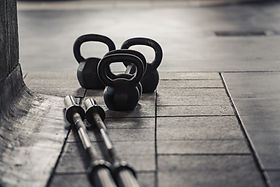 Barbell and Kettlebell Weights strength