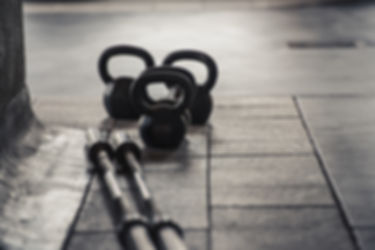 Barbell und Gewichte Kettle
