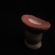 アフリカ 陶器製 枕
