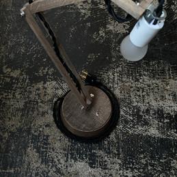 特注丸台座照明 Soil  コードブラック