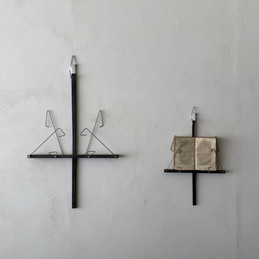 book on the wall (left) / book on the wall small  (right) 江戸黒