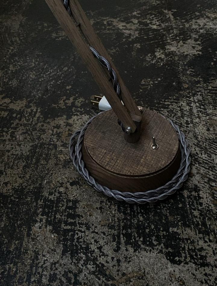 特注丸台座照明 Soil  コードグレー