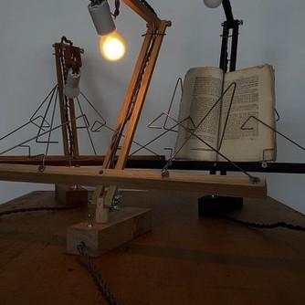 easel wall lamp