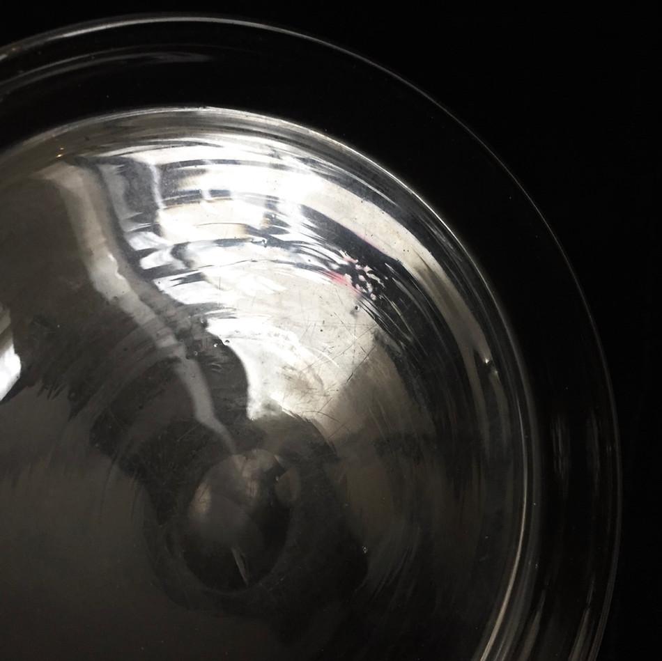 仏 吹きガラス 浅平皿