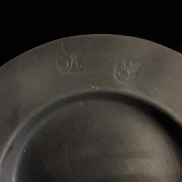 仏 ピューター小皿 A