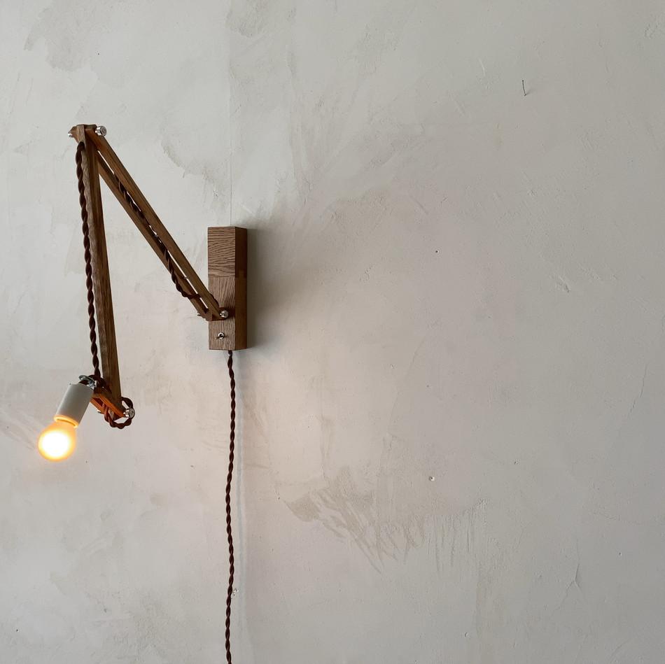 角台座照明 アンティークブラウン