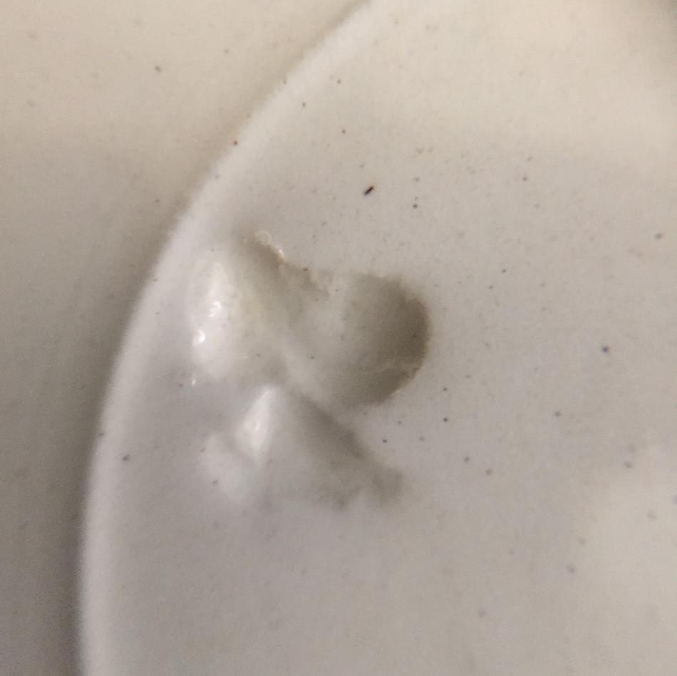 仏 白釉中皿