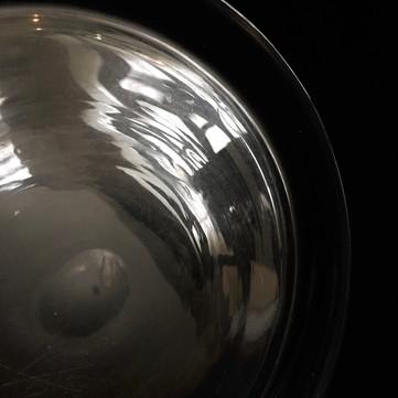 B89006C4-2579仏 吹きガラス 浅平皿