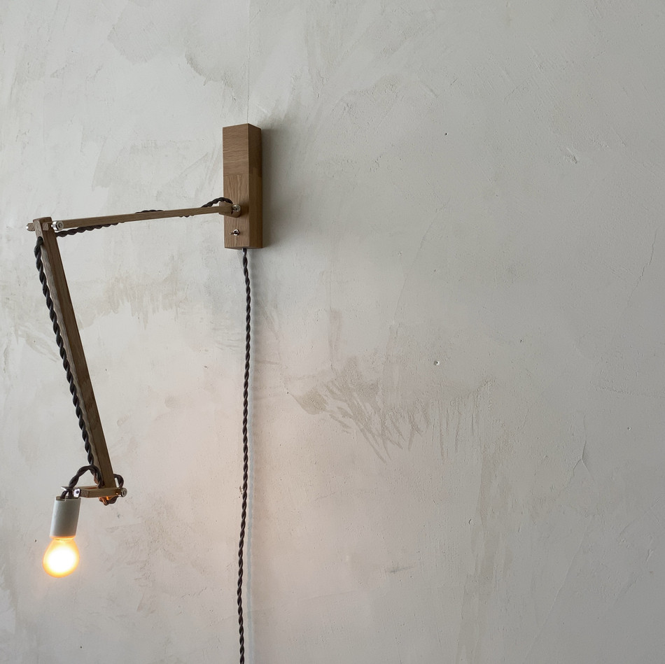 角台座照明 無垢