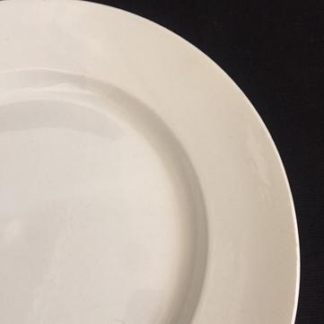 仏 Creil et Montereau 白釉大皿
