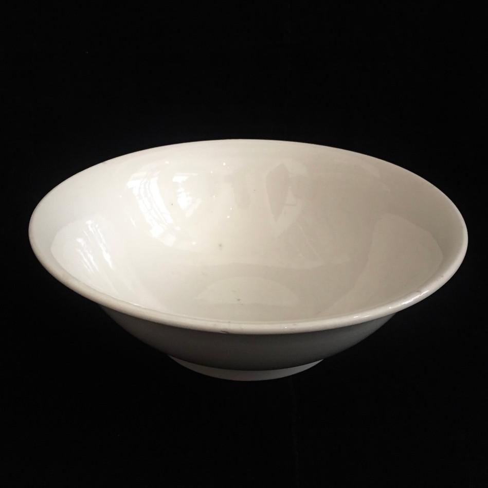 仏 Sarreguemines 白釉大鉢