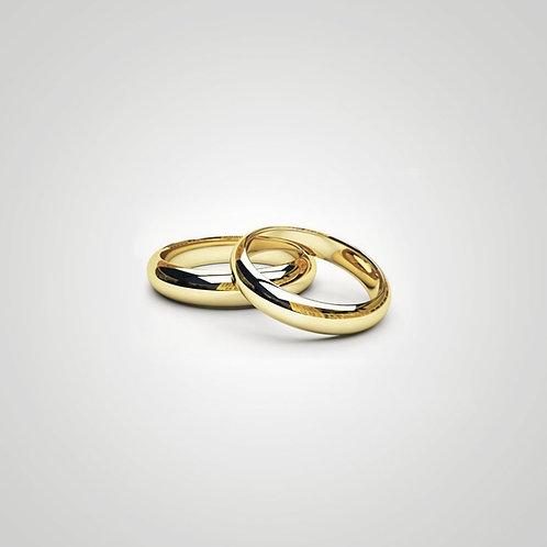 Aros de matrimonio media caña