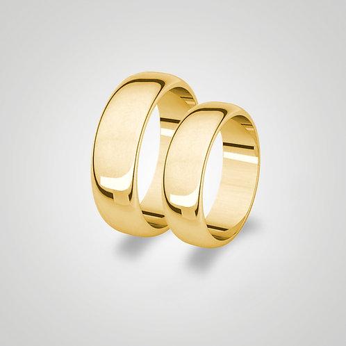 Aros de matrimonio media caña 5mm