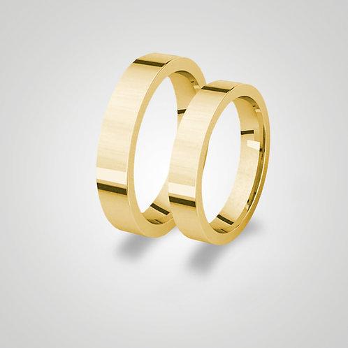 Aros de matrimonio planos 4mm