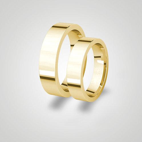 Aros de matrimonio planos 5mm