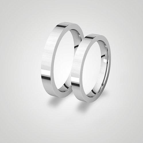 Aros de matrimonio planos 3mm