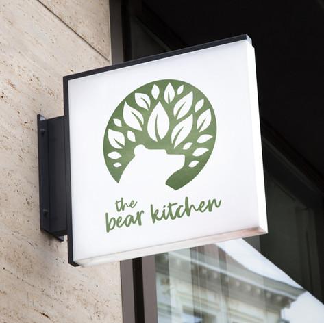 The Bear Kitchen logo design + branding