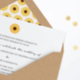 #sunflower #wedding #invitation🌻 #lette