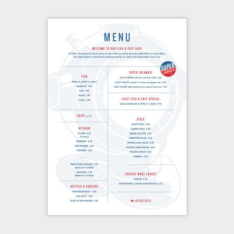 Kerbisher & Malt menu