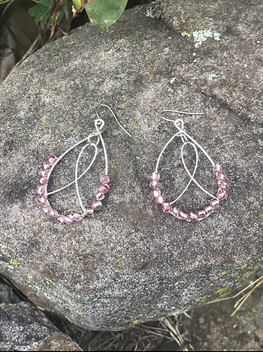 Pink Victory over Cancer Earrings