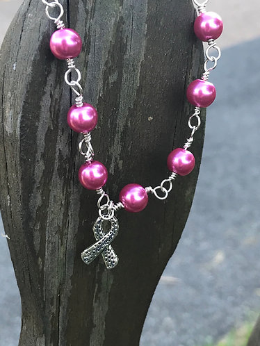 Cancer Ribbon Bracelet