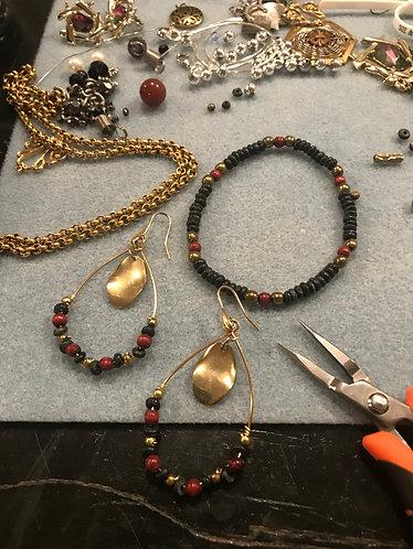 Stephanie's Fall Earrings & Bracelet