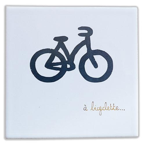 A bicyclette doré