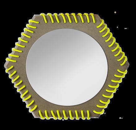 Mirror gray yellow fluo miroir gris et jaune fluo
