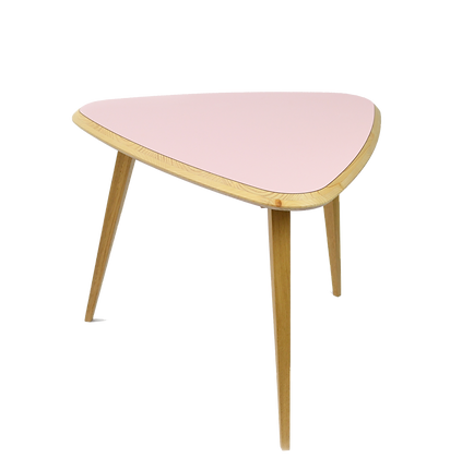 Bermuda Triangle Coffee Table Yellow Pink table base triangle jaune rose
