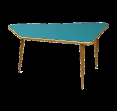 Trapezoid Coffee Table petrol blue table basse trapezoide bleu petrol