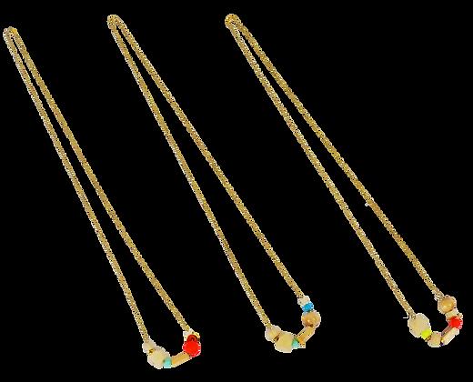 Wood fluo geometrical necklace collier fluo geometrique bois