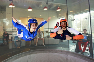 theming, conference activities, sky diving, windtunnel, polarleader,