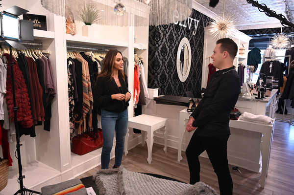 "Melissa Gorga And Derek Zagami Filming ""The Derek Z Show"""