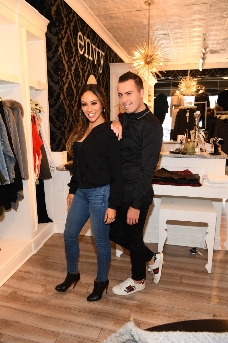 Melissa Gorga And Derek Zagami On Set