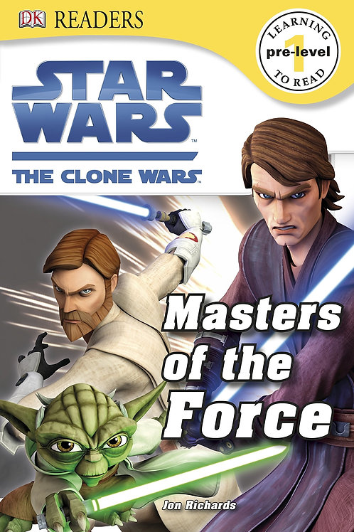 """DK Readers (Pre-level 1) - Star Wars The Clone Wars """"Masters of the Force"""""""