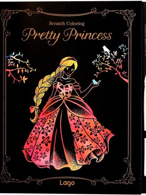 "Scratch Coloring "" Pretty Princess """