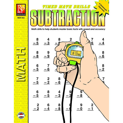 """Timed Math Drills """"Subtraction"""""""