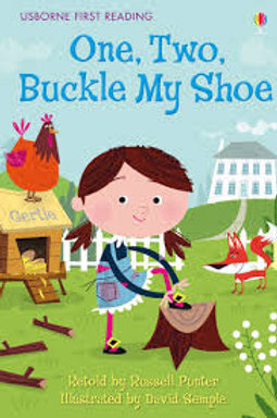 """Usborne First Reading """"One, Two, Buckle my Shoe"""""""