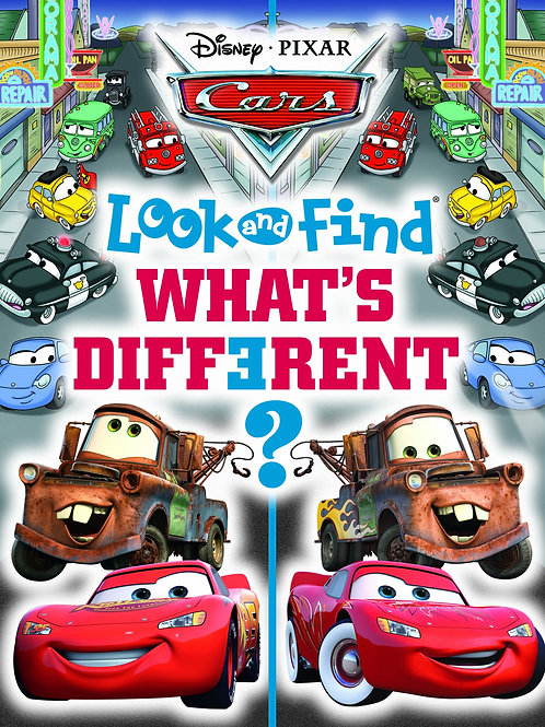 """Disney Pixar Cars - Look and Find """"What's Different?"""""""