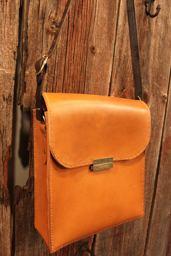 Structured Leather Case/Bag