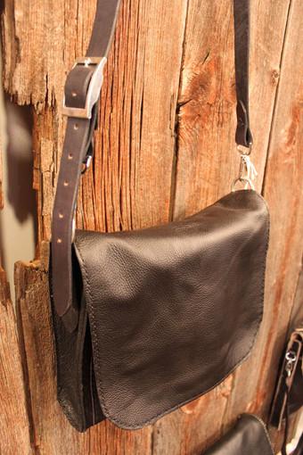 Black Messenger-Style Bag