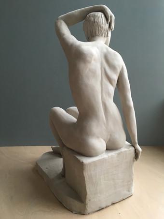 Sitting Sculpture - Arm Raised