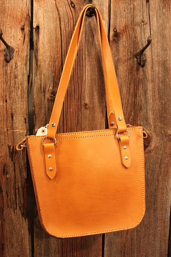 Two-Strap Shopper: Light Brown