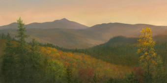 Sunset Over the White Mountains in Jackson NH