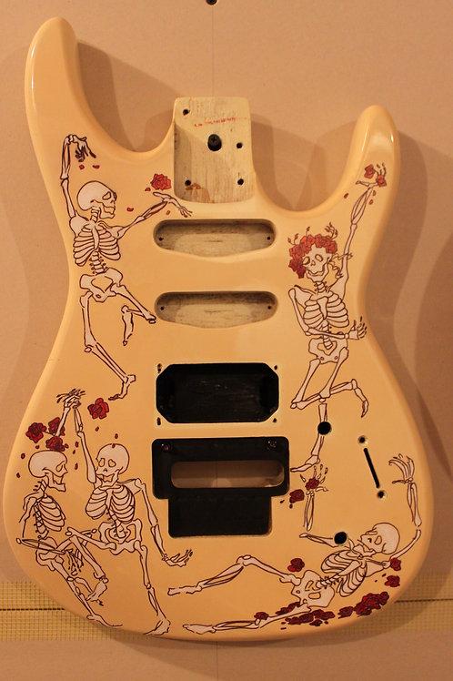 Dancing Skeleton Guitar
