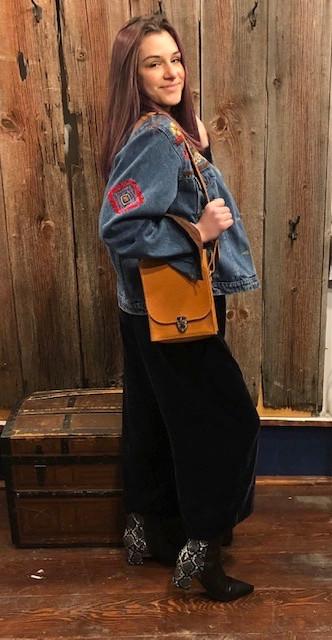 Small, Structured-Leather Shoulder Bag