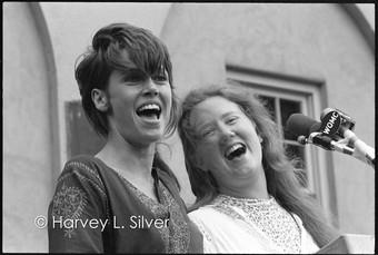 Jane Fonda with Folksinger Holly Near
