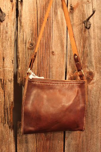 Zippered Top Shoulder Bag
