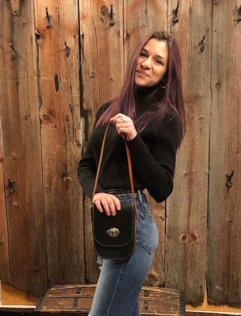 Small Leather Bag; Short Strap